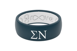 Original Custom Greek Sigma Nu - Groove Life Silicone Wedding Rings