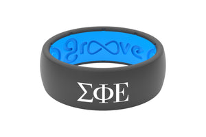 Original Custom Greek Sigma Phi Epsilon - Groove Life Silicone Wedding Rings