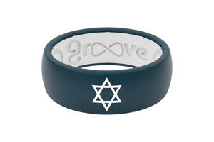 Original Custom Star of David - Groove Life Silicone Wedding Rings
