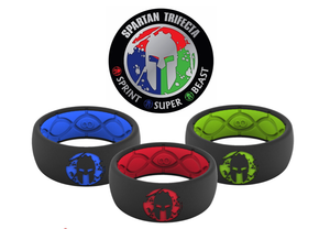 Original Spartan Trifecta - Save $30 - Groove Life Silicone Wedding Rings