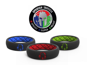 Thin Spartan Trifecta - Save $30 - Groove Life Silicone Wedding Rings