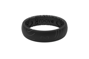 Thin Dimension Topo Midnight Black/Grey - Groove Life Silicone Wedding Rings