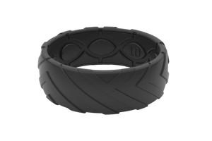 Original Dimension Offroad Midnight Black - Groove Life Silicone Wedding Rings