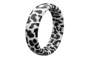 Thin Aspire Snow Leopard - Groove Life Silicone Wedding Rings