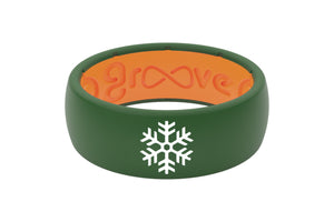 Original Custom Snowflake - Groove Life Silicone Wedding Rings