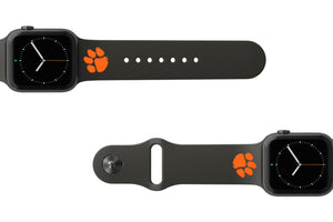 Apple Watch Band College Clemson Black - Groove Life Silicone Wedding Rings