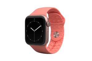 PREORDER | Watch Band Solid Coral | Ships in August - Groove Life Silicone Wedding Rings