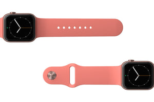 Apple Watch Band Solid Coral - Groove Life Silicone Wedding Rings