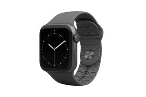 Apple Watch Band Solid Deep Stone Grey - Groove Life Silicone Wedding Rings