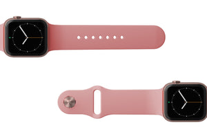 Watch Band Solid Rose Pink - Groove Life Silicone Wedding Rings