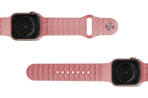 Apple Watch Band Solid Rose Pink - Groove Life Silicone Wedding Rings