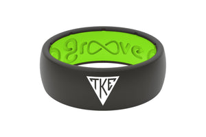 Original Custom Greek Tau Kappa Epsilon - Groove Life Silicone Wedding Rings