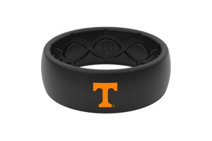 Original College Tennessee Black Color Fill - Groove Life Silicone Wedding Rings