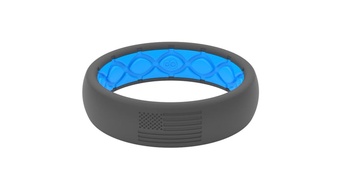 Groove America Silicone Ring - Thin - Deep Stone Grey NO COLOR FILL*