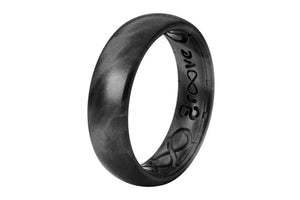 Thin Solid Black Pearl - Groove Life Silicone Wedding Rings