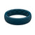 Thin Satin Dark Ocean - Groove Life Silicone Wedding Rings