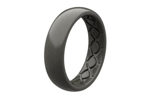 Thin Satin Ferrous - Groove Life Silicone Wedding Rings