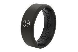 Edge Black Tristar Nash - Groove Life Silicone Wedding Rings