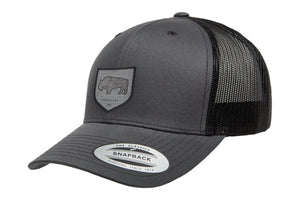 Adventure Gear Bison Black Mesh Trucker Hat