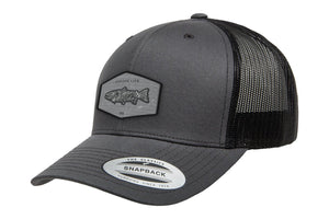 Adventure Gear Trout Black Mesh Trucker Hat