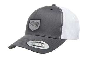 Adventure Gear Bison White Mesh Trucker Hat