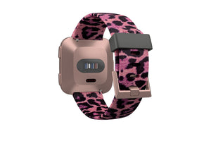 FitBit Watch Band Versa Aspire Leopard Love - Groove Life Silicone Wedding Rings