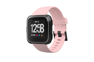 Fitbit Watch Band Versa Solid Rose Pink - Groove Life Silicone Wedding Rings