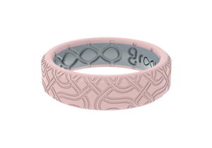 Thin Dimension Venetian Wave - Rose - Groove Life Silicone Wedding Rings