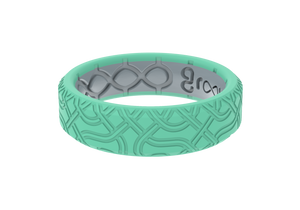 Thin Dimension Venetian Wave - Seafoam - Groove Life Silicone Wedding Rings