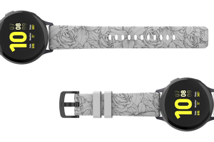 Winter Rose - 20mm Watch Band - Groove Life Silicone Wedding Rings