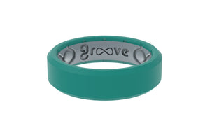 Edge Thin Laguna - Groove Life Silicone Wedding Rings