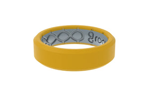 Edge Thin Marigold - Groove Life Silicone Wedding Rings