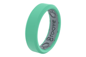 Edge Thin Seafoam - Groove Life Silicone Wedding Rings