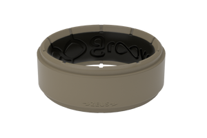 Zeus Flat Earth/Black - Groove Life Silicone Wedding Rings