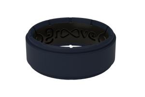Zeus Deep Navy/Black - Groove Life Silicone Wedding Rings