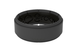 Zeus Deep Stone Grey/Black - Groove Life Silicone Wedding Rings