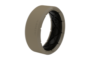 Zeus Edge Flat Earth/Black - Groove Life Silicone Wedding Rings