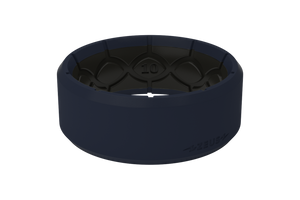 Zeus Edge Navy/Black - Groove Life Silicone Wedding Rings
