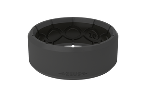 Zeus Edge Deep Stone Grey/Black - Groove Life Silicone Wedding Rings