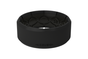 Zeus Edge Midnight Black/Black - Groove Life Silicone Wedding Rings