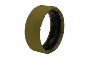 Zeus Edge Olive Drab/Black - Groove Life Silicone Wedding Rings