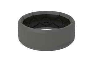 Zeus Edge Storm Grey/Black - Groove Life Silicone Wedding Rings