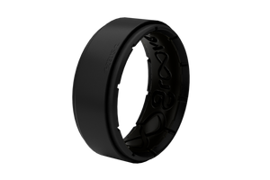 Zeus Midnight Black/Black - Groove Life Silicone Wedding Rings