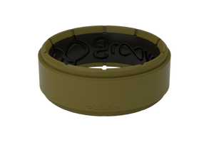 Zeus Olive Drab/Black - Groove Life Silicone Wedding Rings