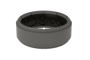 Zeus Step Storm Grey/Black - Groove Life Silicone Wedding Rings