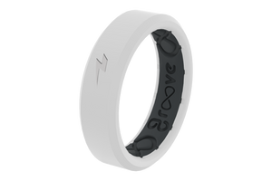 Thin Zeus Snow/Black - Groove Life Silicone Wedding Rings