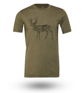Shirt Adventure Gear Deer Olive Heather - Groove Life Silicone Wedding Rings