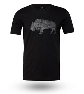 Shirt Adventure Gear Bison Black Heather - Groove Life Silicone Wedding Rings