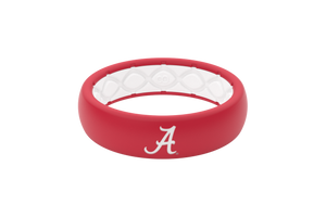 Thin College Alabama Logo - Groove Life Silicone Wedding Rings