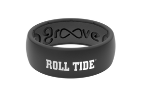 Original College Alabama Black/Roll Tide - Groove Life Silicone Wedding Rings